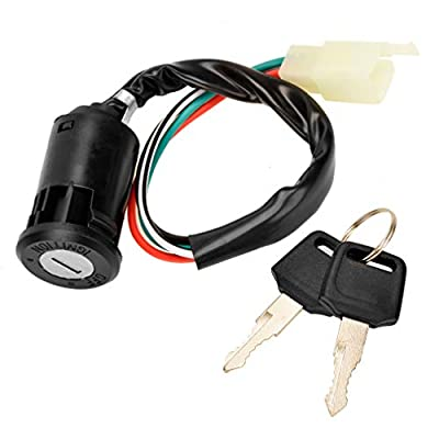 4 Pin Ignition Key Switch 4 Wire for Sunl Roketa Kazuma Chinese Made 50cc 70cc 90cc 110cc 125cc Quad ATV Dirt Bike Pocket Bike 4 Wheels Parts