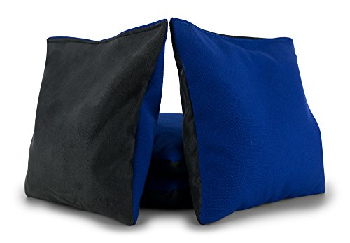 Tailor Spot Pro All Weather Cornhole Bags Dual Sided - Stop & Go - Slick n Stick Resin Filled Bean Bag (Blue-Gray)