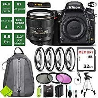 Nikon D750 DSLR Full Frame Camera with 24-120mm VR Lens + 4 Piece Macro Close-Up Set + 3PC Filter Kit (UV FLD CPL) + Tripo...