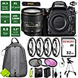 Nikon D750 DSLR Full Frame Camera with 24-120mm VR Lens + 4 Piece Macro Close-Up Set + 3PC Filter Kit (UV FLD CPL) + Tripod + Backpack