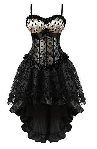 Elodiey Vestido De Fiesta Lunares Corsage Corsé Mujer