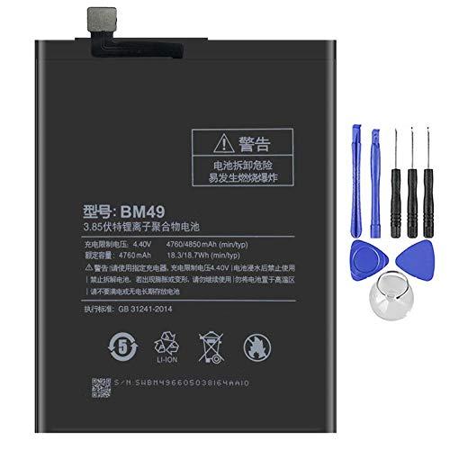 Ellenne Batería compatible con Xiaomi Mi Max BM49 4850 mAh con kit de desmontaje incluido