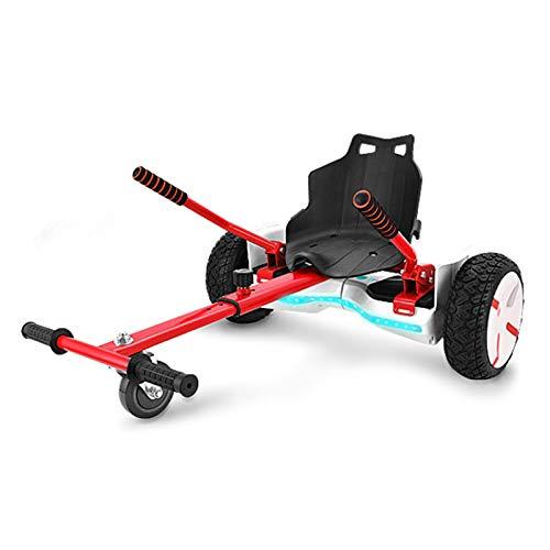YAHAO Hoverkart para Hoverboard, Silla De Hoverboard, Asiento Hoverkart Go-Kart Silla Kart para Electric Self Balancing Scooter, Compatible con 6.5, 8 Y 10 Pulgadas,Red