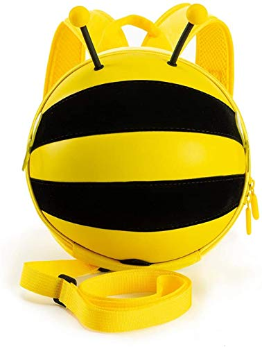 HappyKids mini Bumblebee Backpack Safety Harness for Toddlersand Children-Perfect for Daycare, Preschool, Kindergarten (Yellow)