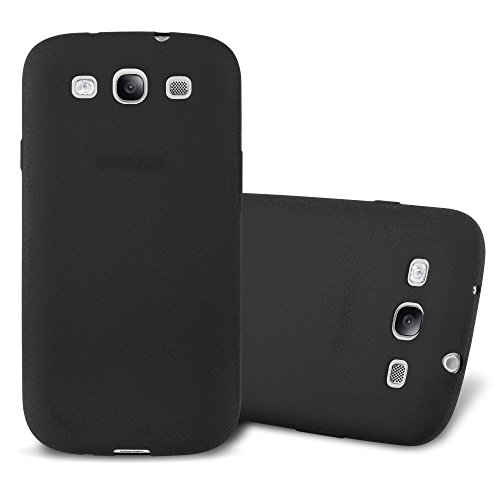 Cadorabo Coque pour Samsung Galaxy S3 en Frost Noir - Housse Protection Souple en Silicone TPU avec Anti-Choc et Anti-Rayures - Ultra Slim Fin Gel Case Cover Bumper