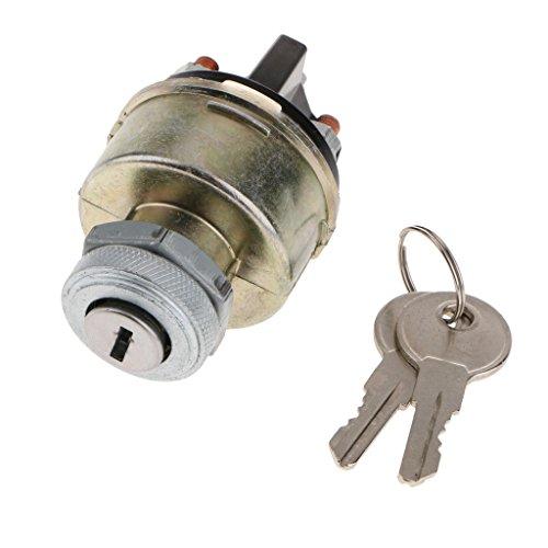 B Blesiya Interruptor de Llave de Arranque de Encendido de 2 Posiciones 2 Llaves para Coche, Camión, Barco, Llave de Arranque