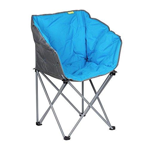 Gepolsterter Campingstuhl Lounge-Sessel Kampa EXTREMER Komfort FT0050 blau