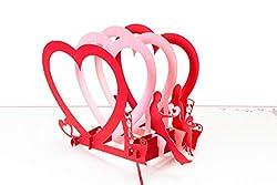 PrimePopUp   Liebeskarte   Liebespaar auf Bank mit Herzen   3D Pop Up Karte   besondere Hochzeitskarte   Geschenk für Freundin Freund   Geburtstagskarte   Ich liebe Dich Karte für Sie & Ihn