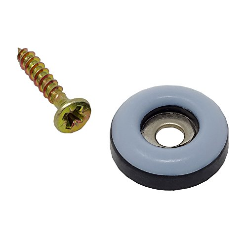 Preisvergleich Produktbild SBS Teflongleiter / ø 22mm / 16 Stück / Möbelgleiter zum schrauben / incl. Schraube Teflon