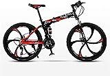 aipipl Bicicleta de montaña Bicicleta Plegable de Carretera Bicicletas MTB para Hombres Bicicletas de 24 velocidades Ruedas para Mujeres Adultas Bicicleta Todoterreno