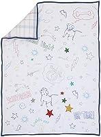 ED Ellen DeGeneres Doodle Dog - Quilt, All-Over Doodle Print, 100% Cotton, Ivory, Royal, Red, Yellow