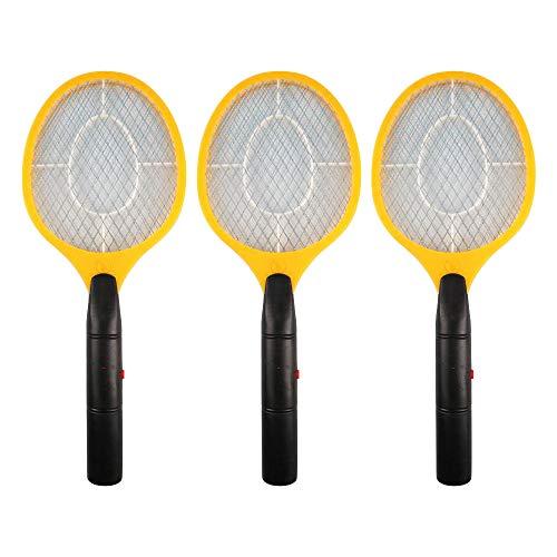 Uranbee - Juego de 3 matamoscas eléctricos para interior y exterior, color amarillo