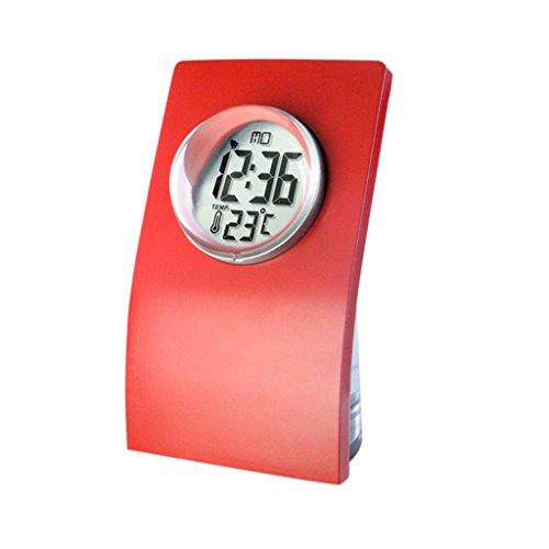 Sharplace NEU Flasche -Design Wasserbetriebene Uhr Tischuhr, Eco-Friendly Clock - Rot