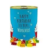 printplanet - Konservendose mit Name oder Text selbst gestalten - Süßigkeiten-Dose - Layout Geburtstags-Cupcake - Füllung Haribo Goldbären