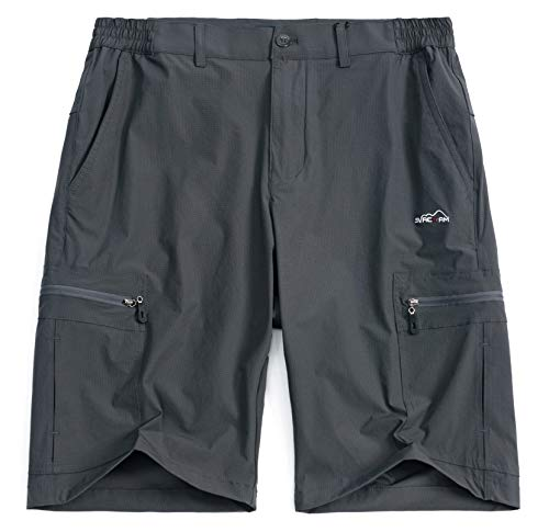 svacuam Men's Casual Quick Dry Exercise Sport Hiking Shorts with Pockets