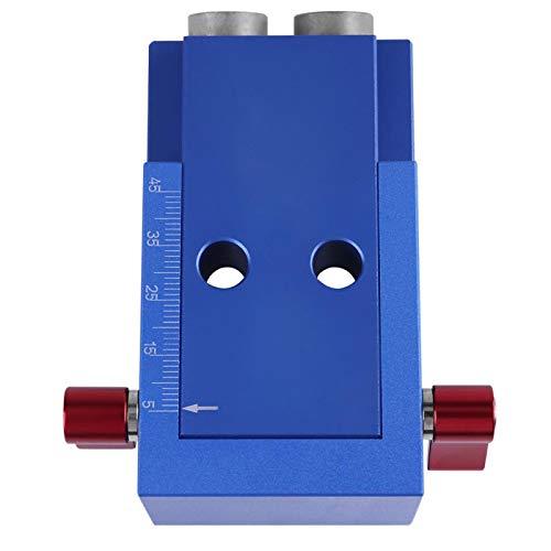 Kit de plantilla para orificios de bolsillo, herramienta de localización de posicionador duradera de 9,5 mm * 30 mm, para conexiones de patas y rieles de carpintería