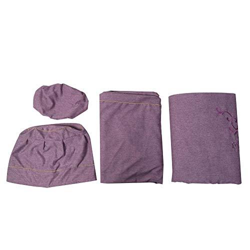 4 juegos de ropa de cama para salón de belleza, juegos de sábanas para mesa de masaje, funda nórdica para spa, cama, sábanas para mesa de masaje con orificio facial, edredón agradable para (02)