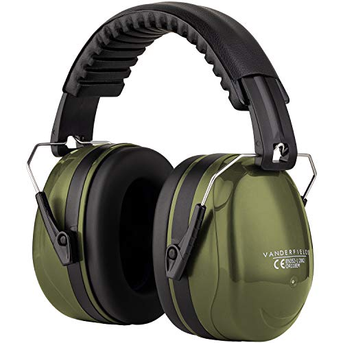 Ear Defenders Adult  Foldable Hearing Protection Ear Muffs Noise Cancelling  Perfect for DIYm Working Shooting Gardening  Adjustable Headband for Adults Men Women  2 Years Warranty  Green