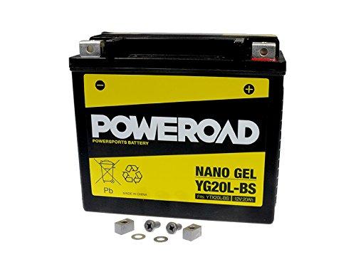 GEL-Batterie-Poweroad YTX20L-BS 20AH für Bombardier Buell CAN-AM Cectek CFMOTO Harley Davidson Kymco Linhai Masai Moto Guzzi