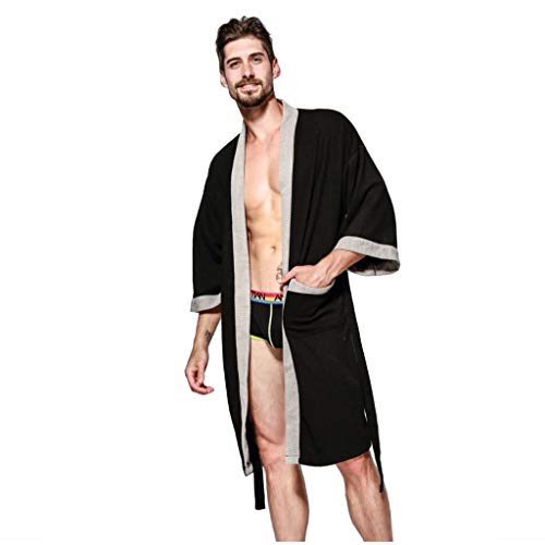 DAFREW - Pijama cálido para hombre, suave y cómodo, ropa...