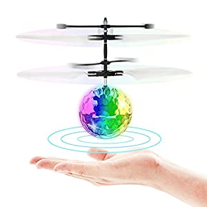 Flying Ball Toys,RC Toy for Kids Boys Girls Gifts Rechargeable Light Up Ball Drone Infrared Induction Helicopter with Remote Controller for Indoor and Outdoor Games for Age:8+ years