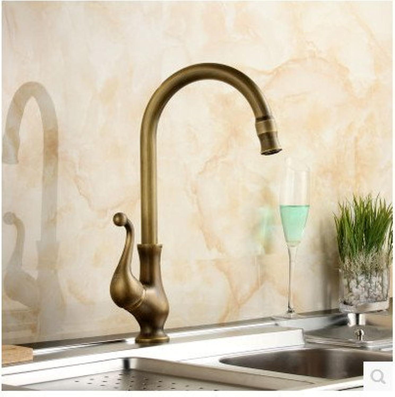 Hlluya Professional Sink Mixer Tap Kitchen Faucet Antique-brass kitchen faucet, kitchen sink single hole basin Faucet