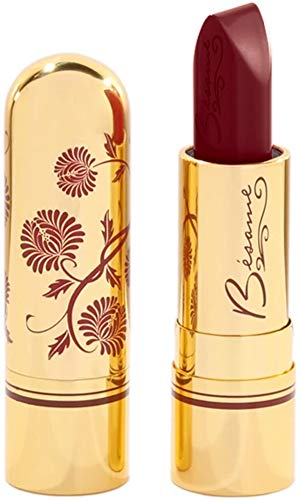 Besame Cosmetics: Classic Color Lipstick - Vintage Lipstick - Highly Pigmented, Long-Lasting Color, Feather-Proof Finish