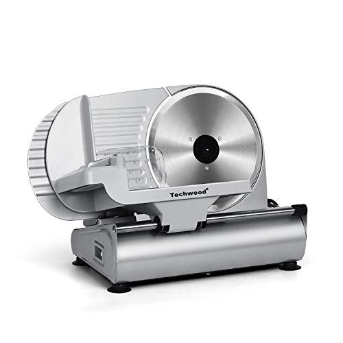 "Meat Slicer, Techwood Electric Deil Food Slicer with Removable 9"" Stainless..."