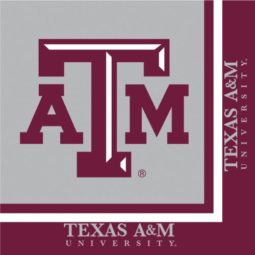 Texas A & M Aggies Lunch Napkins, 20-Count
