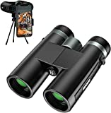 BOOVV 12X42 Binoculars for Adults, HD Professional Binoculars for Bird Watching,Traveling,Hiking, Hunting and Sports Events with Smart Phone Adapter for Photography-Super Bright BAK4 Prism FMC Lens