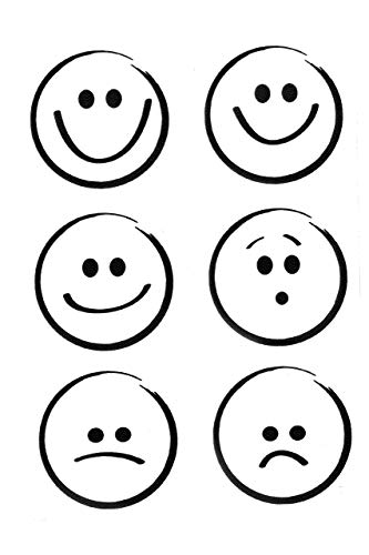 efco–Stempel klar Smileys A7/74x 105mm 6Teile Transparent, 11x 8x 2cm