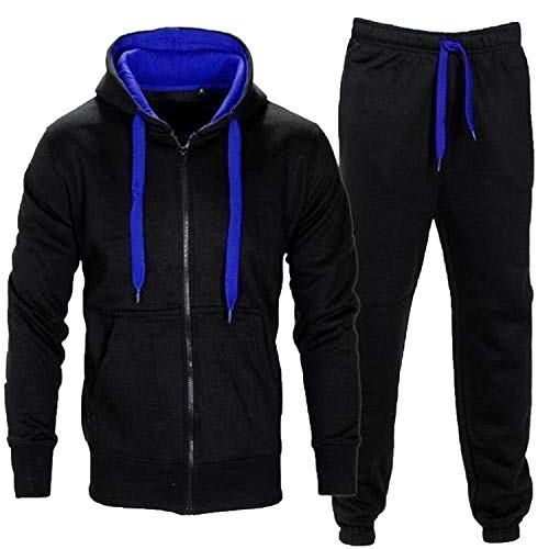 Juicy Trendz® Uomo Tuta Sportive Incappucciato Cerniera Jogging Activewear Set Di 2 Pezzi.