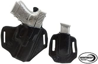 OWB Mag Holder combo R//H Black M/&P Shield No Laser 45 cal IWB Dual Snap Holster