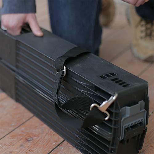Stanley klappbares Unterstellbock Paar aus Metall 1-97-475 / Mit Kunststoffauflage & rutschfesten Gummifüßen / bis 340 kg Tragkraft / 101,7 x 12,5 x 75,8 cm - 6