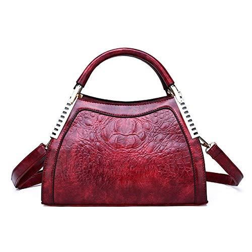 Mdsfe Nuevos Bolsos de Lujo para Mujer, Bolsos de diseñador a la Moda con patrón de cocodrilo, Bolso de Hombro para Fiesta para Mujer, Bolsos de Mensajero, Bolsa Feminina-Red One