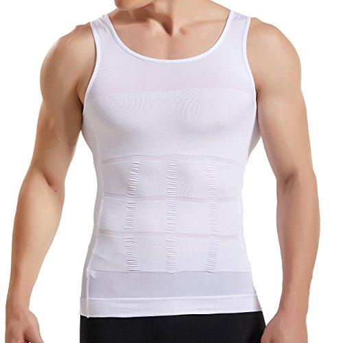 HANERDUN Kompressionsunterwäsche | Herren Tanktop | figurformendes Unterhemd für Männer | Sport Fitness | T-Shirt Bodyshaper Bauchweg
