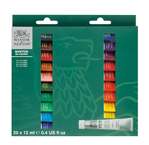 Winsor & Newton 1490695 Winton Ölfarben Set, Mehrfarbig, 20 Farben Starterset