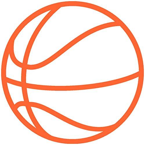 Samunshi® Autosticker Basketball Aufkleber in 8 Größen und 25 Farben (4x4cm orange)