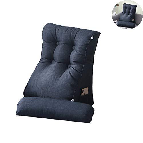 JIASHU Almohada Triangular de cuña, Almohadas de Cintura Blandas con Respaldo Suave, Respaldo ergonómico de Bolsillo, para sofá Cama y cabecero tapizado 17.72 * 21.65in