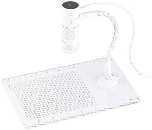 Somikon USB Mikroskop: Digitales Mikroskop mit HD-Kamera und Ständer, 2 MP, 250x Vergrößerung (Microscop)