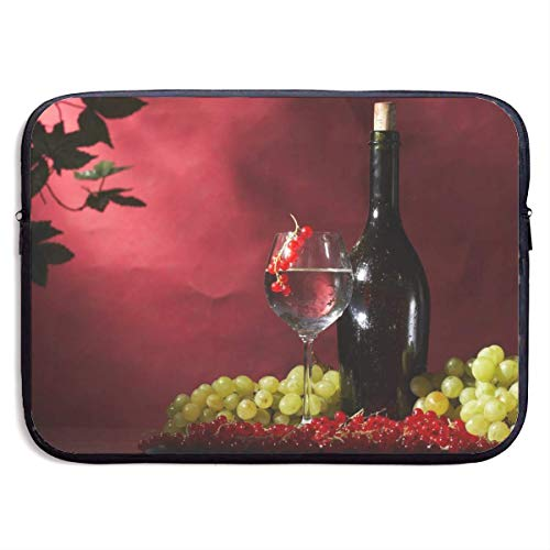 Funda Impermeable para portátil de 15 Pulgadas, maletín de Negocios con Frutas de Vino y Uvas, Bolsa Protectora, Funda para Ordenador BAG-6169