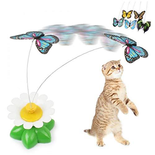 CULER Cat Teaser-Spielzeug Drehende Elektrische Schmetterling Lustige Stahldraht Teaser Spielzeug Für Haustiere Welpen Kitten Interaktive Spiel Spielzeug