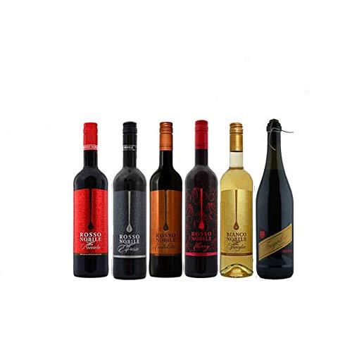 Rosso Nobile all'Espresso, Rosso Cioccolata, Rosso Nocciola, Rosso Cherry, Bianco Vagnilla plus Fragolino (6x0,75)