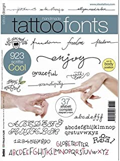 Handmade Fonts Tattoo Flash Design Book 64-Pages