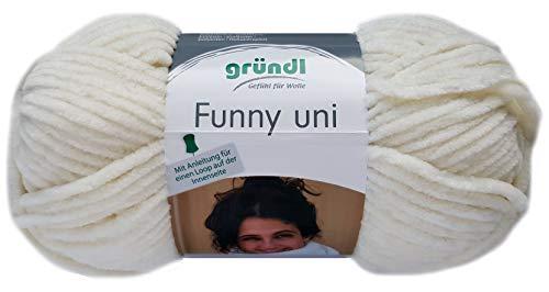Gründl Funny 100g Softgarn aus 100% Polyester (05 Creme)