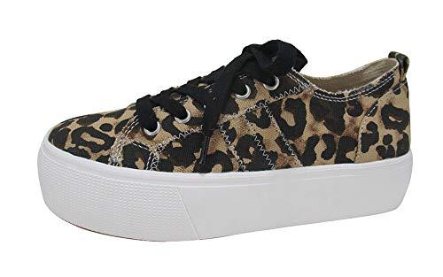 Jellypop Women's Newstar Platform Sneaker, Leopard, 7