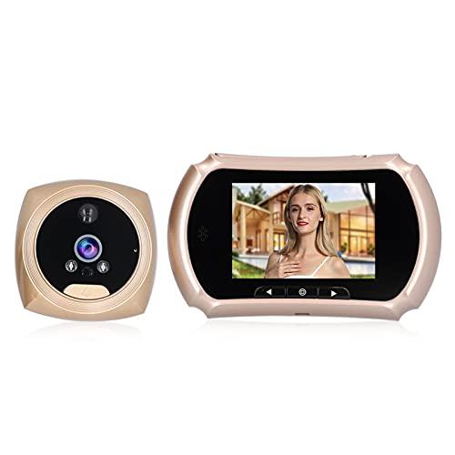 Visor de puerta digital LCD de 4 pulgadas, timbre de video inteligente con cámara, mirilla de timbre visual, visualización nocturna HD, función de grabación de video, para seguridad en el hogar