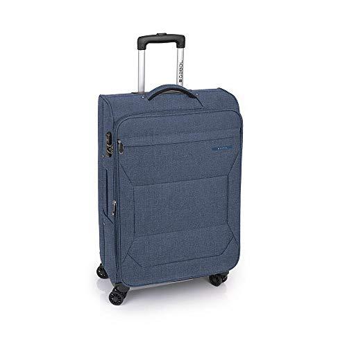 Gabol - Board | Maletas de Viaje Medianas de 43 x 68 x 26 cm con Capacidad para 63 L de Color Azul