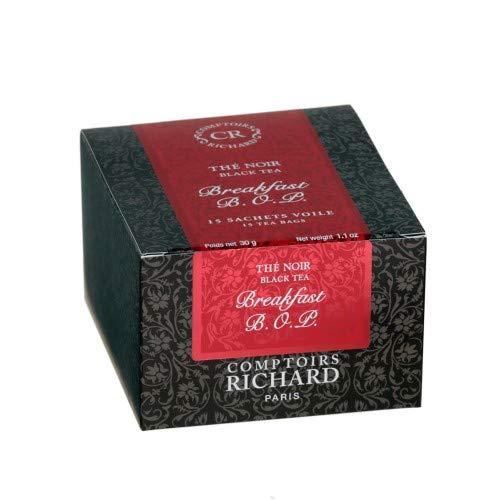 Comptoirs Richard Thé Noir Breakfast Bop (15 Beutel Mit Schwarzem Tee Englisches Frühstück)