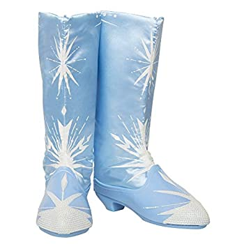 Disney Frozen 2 Elsa Travel Boots for Girls Costume or Role Play Dress-Up Adjustable Backing Allows to Fit Most Girls - for Ages 3+